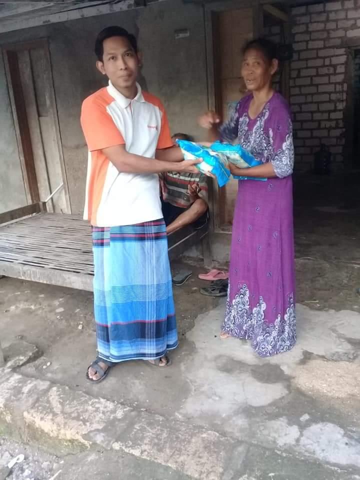 Gaji Kades Socorejo Dibagikan ke 200 Janda dan Yatim