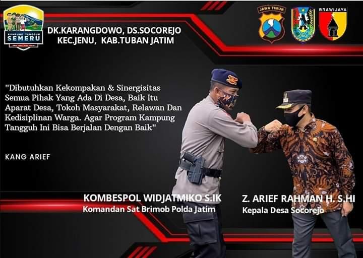PJU Polda Jatim dan Kapolres Tuban Kunjungi Kampung Tangguh Socorejo